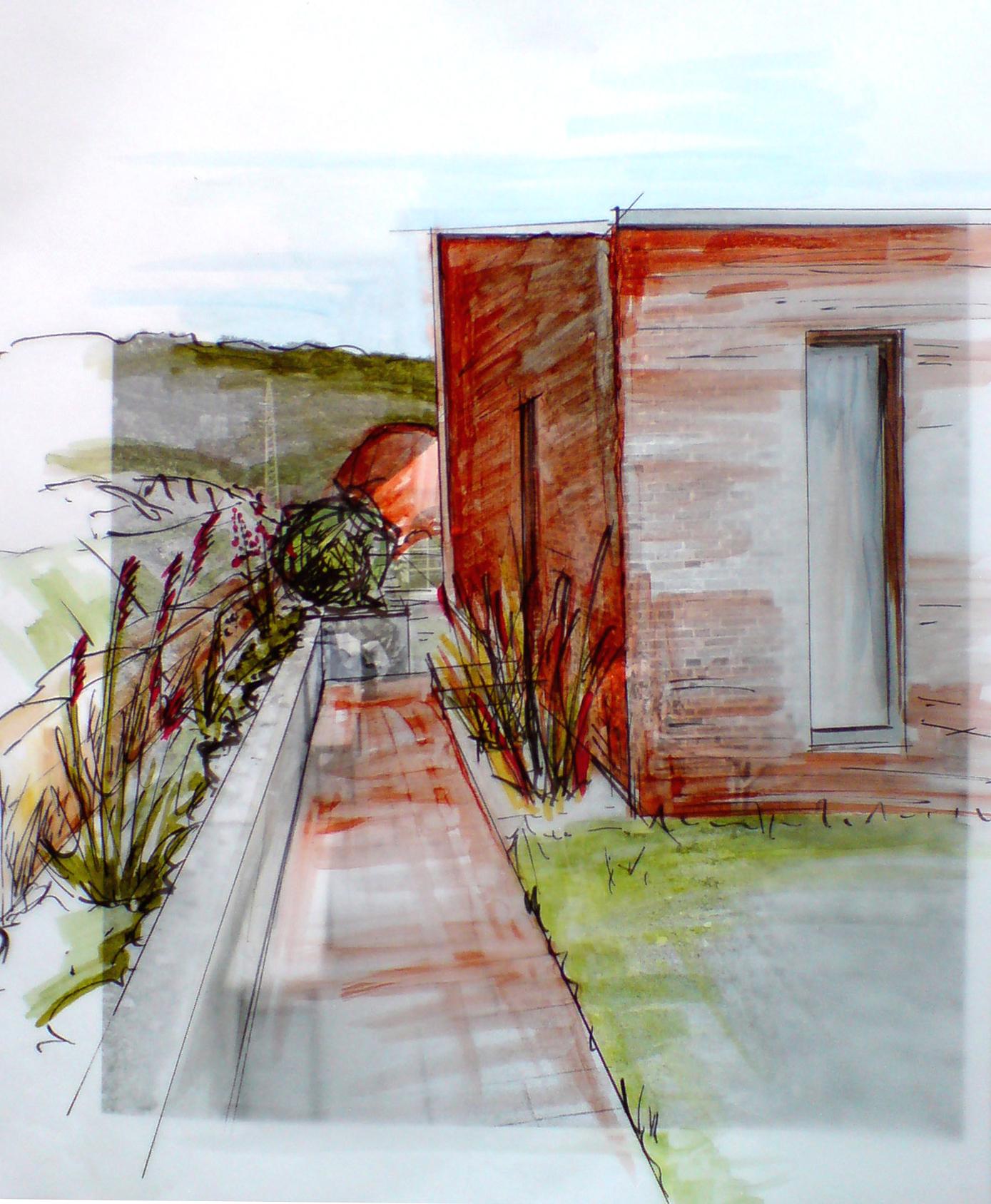 Planung Hausgarten Eingangssituation