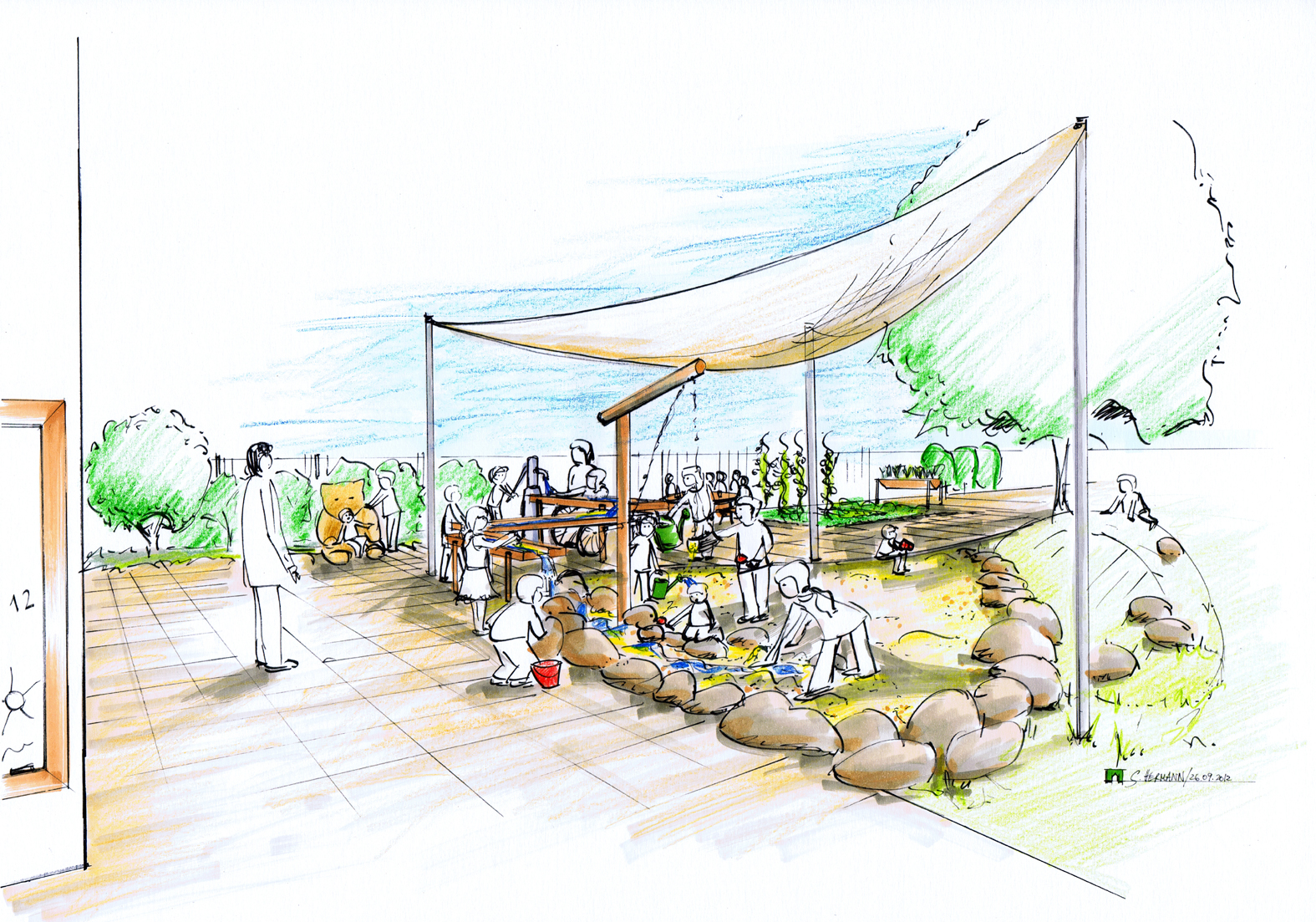 Planung 1 Integrative Kindertagesstätte Breinig